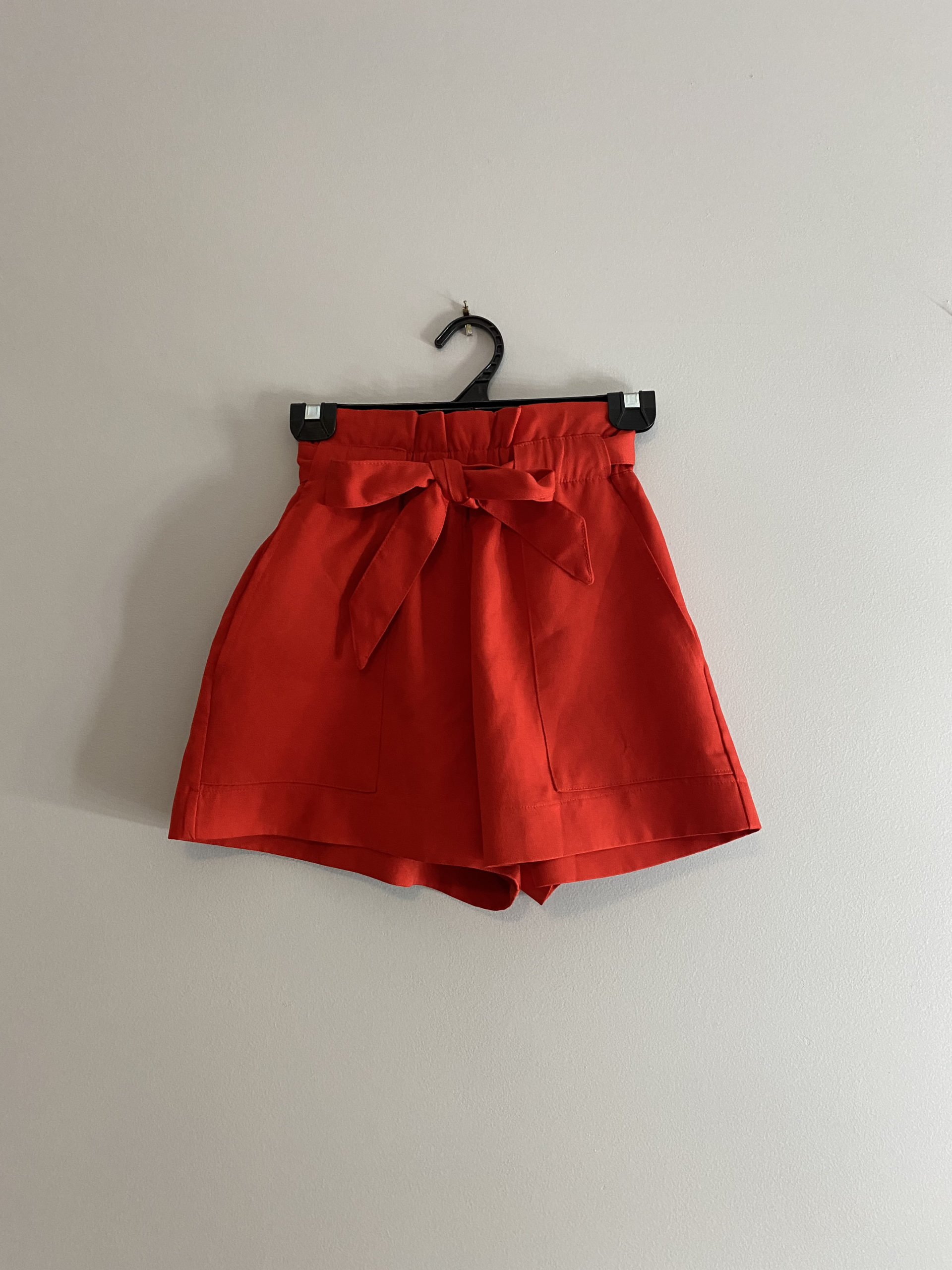 Red Paper-bag Shorts