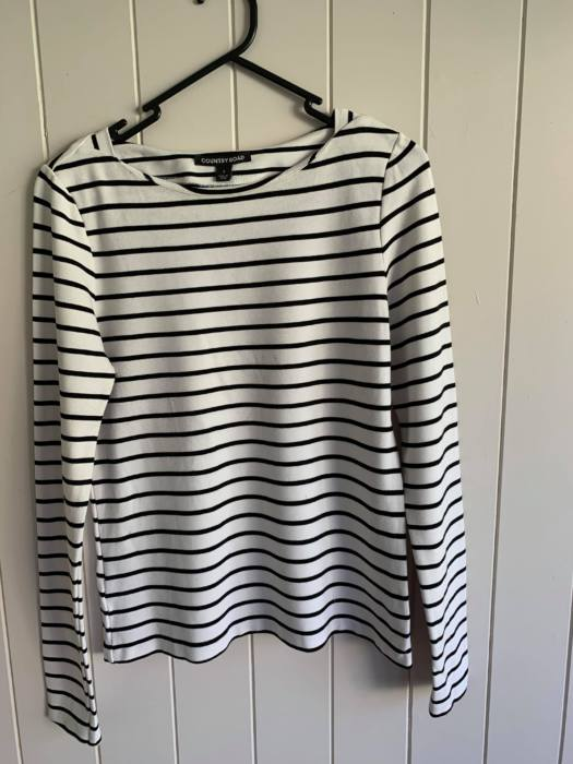 30. Country Road Striped Long Sleeve