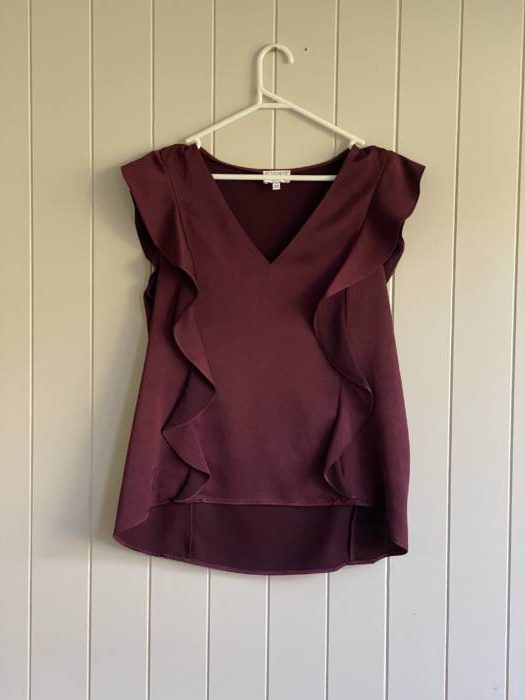 27.Witchery Maroon Blouse