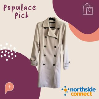 Check it out 🧥 Obsessing over this cool gal trench! From work to the weekend, this 'Tokito Winter Jacket' is the only Jacket you need 😍. Check out the @northsideconnectnundah store for some trending pieces!  Size: 6 Price: $50  #PopulaceThreads #PopulaceWardrobe #OneStopShop #ResaleTherapy #ShopSwapSell #Sustainability #ProtectThePlanet #CircularFashion #Australia #Upcycle #OOTD #StyleReels #FashionReels #ootdreels #discoverunder20k