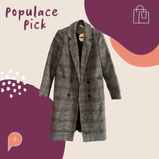 """Available for purchase in the Populace Threads wardrobe, this oversized """"tweed blazer"""" is the perfect winter jacket for all occasions! Depending on the desired fit, this jacket would be suitable for size 6, 8, or 10.   Don't miss out on your chance to be comfy, cosy, and fashionable all winter long!  #PopulaceThreads #ShopSwapSell #WinterWardrobe #SummerWardrobe #StyleTips #OOTD #OutfitOfTheDay #Resaleisthenewretail #OOTW #DailyFashion #lookoftheday #feedaesthetic #winteraccessories #discoverunder20k #Discoverunder10k #Smallbusiness #styleinspo"""