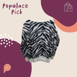 """Stay cosy in this adorable """"Dorothy Perkins Zebra Sweater""""!! Currently available for sale in the Populace Threads wardrobe, this size 8 jumper will become your newest staple item this winter.   #PopulaceThreads #ShopSwapSell #WinterWardrobe #SummerWardrobe #StyleTips #OOTD #OutfitOfTheDay #Resaleisthenewretail #OOTW #DailyFashion #lookoftheday #feedaesthetic #winteraccessories #discoverunder20k #Discoverunder10k #Smallbusiness #styleinspo"""