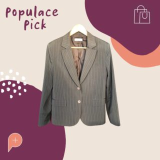"""A blazer is a perfect way to elevate a casual outfit! Check out this """"Portmans Pin strip Suit Jacket"""" available in the wardrobe in a size 14 😍  #PopulaceThreads #ShopSwapSell #WinterWardrobe #SummerWardrobe #StyleTips #OOTD #OutfitOfTheDay #Resaleisthenewretail #OOTW #DailyFashion #lookoftheday #feedaesthetic #winteraccessories #discoverunder20k #Discoverunder10k #Smallbusiness #styleinspo"""